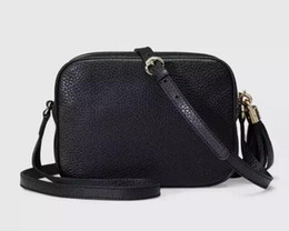 Free Shipping 2018 Designer High Quality Female Bag Ladies Leather Soho Bag Disco Shoulder Bag 308364