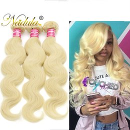Nadula Peruvian Body Wave Hair Weave 613Blonde Bundle Peruvian Body Wave Bundle Virgin Human Hair Wefts Remy Hair Extensions Cheap Wholesale