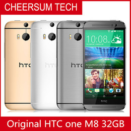 2016 New Hotselling Refurbished 100% Original HTC One M8 Cell phone 5'' Quad Core 32GB 16GB 4G LTE-FDD 3G WCDMA 2G GSM free post shipping