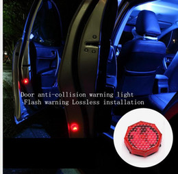 Car door warning light LED decorative lights free modified wireless anti-stalking strobe lights door anti-collision sensor ligh,Freeshipping
