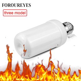 LED Bulbs E27 SMD2835 Flame Effect fire Light Bulbs 85-265V 7W super Bright Cree LED Lamp Wholesale FREE SHIPPING