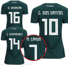 Thailand Camisa WOMEN Mexico soccer jersey 2018 2019 CHICHARITO LOZANO MARQUEZ DOS SANTOS GUARDADO girls football shirt Camisetas de futbol