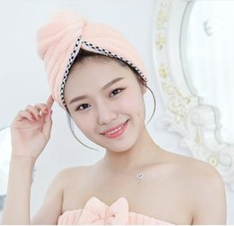 New water fast drying soft comfortable thickened Baotou towel covered coral cornice shower cap