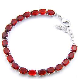 free shipping Fashionable Shine Crystal Oval Optional 3 color Red Garnet Gemstone Bracelet Bangle Russia Bracelet Women Bijouterie Jewelry