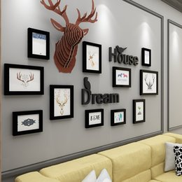 3D Decoration European Style Wooden Photo Frames Set 11 Pcs Wall Photo Frames Combination Home Wall Picture Frame porta retrato