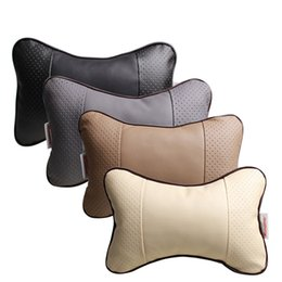 fashion car headrest,Breathable leather, soft and comfortable, all leather headrest.Breathable neck pillow,four season general