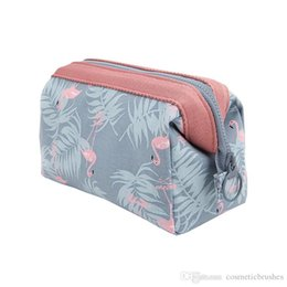 Mybasy 1 pcs Printed cotton-polyester waterproof travel cosmetic bag ladies cosmetics bag wash and receive bag
