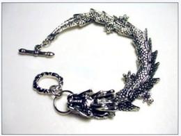 nobllest China Tibet tibet silver Dragon Head Link mens Link Chain Bracelet