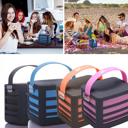 Portable Wireless Bluetooth Speaker with Built-in Power Bank Plus 2 USB Ports