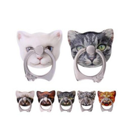 Cute Kitten Shape 360 Roating cat Finger Ring Mobile Phone Stand Holder for iPhone Samsung Huawei Xiaomi All Smart Phones with Retail Box