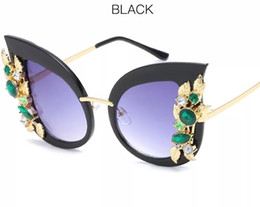 Fashion Cat Eye Sunglasses Women Diamond Frame Vintage Brand Designer Luxury Sun Glasses For Women Mirror Oculos De Sol #6698