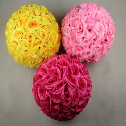 Boules De Fleurs De Mariage En Soie Rose Distributeurs En Gros En