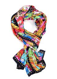 Animal cat print All-match women 100% silk scarf fashion wrap shawl size 160*42cm #2745