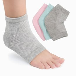 Gel HMoisturizingeel Socks for Dry Hard Cracked Skin Open Toe Comfy Recovery Socks Day Night Care