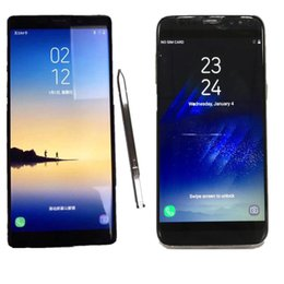 Android 6.0 goophone s8 s8+ edge 9 plus note8 note9 smartphone 64bit Quad core MTK6580 cell phones real 1GB RAM 8GB ROM show fake 4G Lte DHL