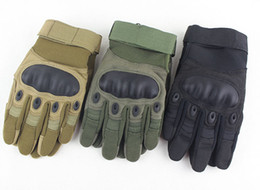 2018 New Slip Outdoor Riding Fitness Protective Fighting Full Finger Gloves Tactical Gloves