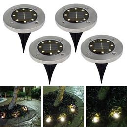 4Pcs Waterproof LED Solar Underground Lights Stainless Steel Outdoor Solar Buried Floor Light Outdoor Garden Path Ground Lamp