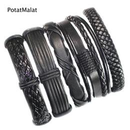 FL46-free shipping (5pcs lot) new fashion handmade ethnic braid bracelets wristband genuine leather bracelet for party