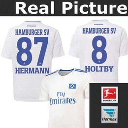TOP best quality HSV 2018 Hamburger SV jersey home HERMANN 87 HOLTBY 18-19 Hamburger Sportverein football jersey shirts