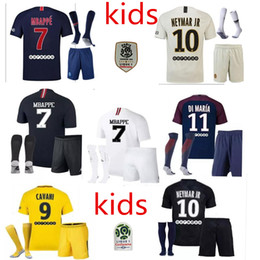 PSG Tailandia Maillot de foot MBAPPE NEYMAR JR camisetas de fútbol 2018 Niños CAVANI DANI ALVES jersey 17 18 camiseta de fútbol KIT survetement NEY
