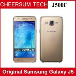 "Original Samsung galaxy J5 Unlocked Cell Phone Quad core Snapdragon 2GB RAM 8GB ROM 5.0 "" WCDMA Refurbished cellphone free DHL"