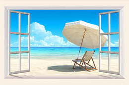 Photo Wallpaper High Quality 3D Stereoscopic Original 3D sea window background wall Extension Personality Wall Mural Wallpaper Painting