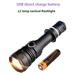 New USB Rechargeable L2 Flashlight Outdoor LED Waterproof Long-range 300 Meter Tactical Flashlight
