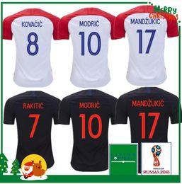 2018 2019 MODRIC home away Soccer Jersey SRNA PERISIC RAKITIC MANDZUKIC SRNA KOVACIC Red KALINIC Hrvatska Football Shirt