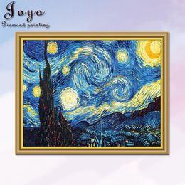 Joyo DIY Home Decoration DIY Full drill Diamond Embroidery Van Gogh Starry Night Cross Stitch kits Abstract Oil Diamond Painting