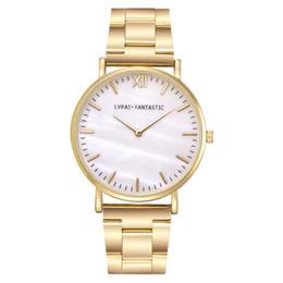 Pareja Reloj de la correa de acero Moda europea y americana Reloj de marca casual simple Oro / Rosa-Oro / Plata Reloj