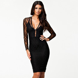 2018 New Sexy Casual Black Middle Sleeve Fashion Women's Short Leather Floral Lace Mesh Little Black Club Hot Sale Summer Party Midi Dresses