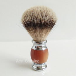 Silvertip Badger Hair Acrylic And Metal Handle Shaving Soap Beard Brush