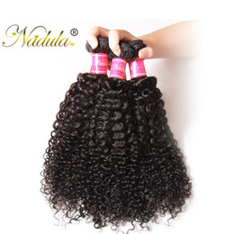 Nadula Brazilian Curly Hair Weave 3Bundles 100% Human Hair Extensions Remy Hair Wefts Machine Double Weft Wholesale Cheap