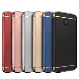 3 in 1 Case Matte Plating Slim Full Hard Plastic Armor Cover Case For iPhone XS Max XR X 8 7 6 6S Plus Samsung Galaxy S10 E S9 S8 Note 9 A8