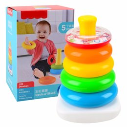 Rainbow Circle This Tumbler Baby Toy Baby Toy Puzzle Set of Circle Layers