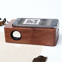 Fashion Luxury Bamboo Portable Wood NFC Sound Amplifier Wooden Mini Wireless Speaker Stereo Magic Induction VS210 Boombox Stereo Music Box