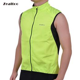 Zealtoo Green Cycling Vest Men's Ultrathin Lightweight Sleeveless Coat Jacket Running Bicycle Vest Outdoor Sportswear Windproo