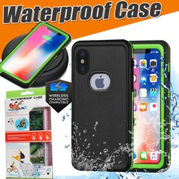Waterproof Case Hybrid Rubber Armor Anti-scratch With Screen Protector Support Wireless Charging Cover For iPhone X 8 Plus 7 6 6S Samsung S8