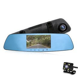 Super Night Vision 1080P Full HD 5'' Camera Vehicle Car DVR Cam Dash Video Recorder Dual Lens car rearview mirror