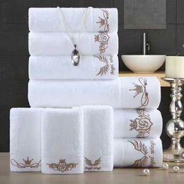 3Pcs towel set 100% cotton towel bathing face towel soft strong absorbent spa salon househould hotel home textiles