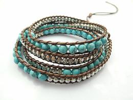 6mm Blue Howlite Bead Strand Bracelet New Design Handmade Strand Bracelet Wholesale Sale