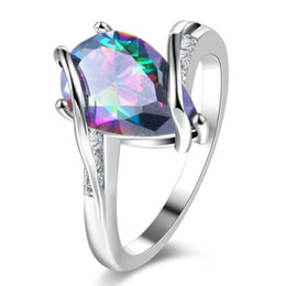 New Arrival Accessories Rings Statement Rings For Women And Men Gorgeous Rainbow Charm Mystic Topaz Rings R10101610216a