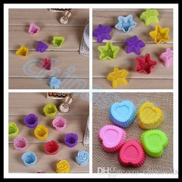 DIY Valentine Day rose star heart silicone cake mold baking tools chocolate mold muffin candy fondant cake baking mould