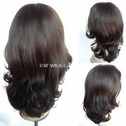Top grade no shedding real factory price 4 6# 18 inches unprocessed brazilian hair jewish wigs