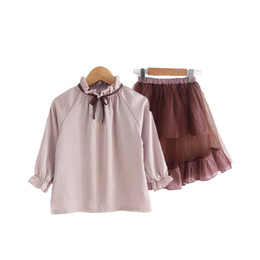 Spring and summer fashion girls dress princess satin two dresses children's tide clothes 2018 new suit p6