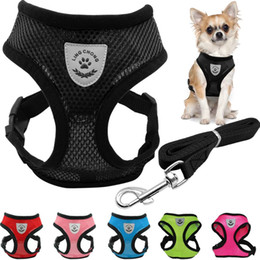 Breathable Mesh Small Dog Pet Harness Front Anti Pull and Waist Leash Set Puppy Vest Chest Strap
