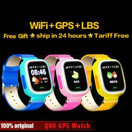 Q90 GPS teléfono posicionamiento moda niños reloj 1.22 pulgadas pantalla táctil a color WIFI SOS reloj inteligente bebé Q80 Q50 Q60 encontrar