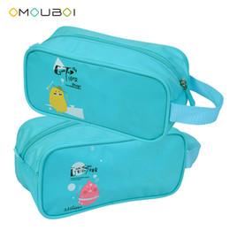 Freeshipping OMOUBOI Color azul Anti-rasguño Organizador de viajes Tote Ligero Impermeable Cremallera de tocador de Aseo Para el Uso Diario Kits