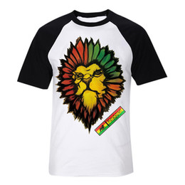 show respect to reggae lion bob marley fashion digital printing t shirt vintage band tee men women size tops 1 from sale