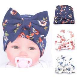 1 PCS Newborn Baby Hat Beanie Flower Bowknot Cap Infant Girls Hospital Cap Toddler Knit Hat Accessories Hospital Hat whoesales free shipping
